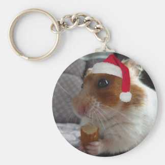 Christmas Hamster - Key Chain