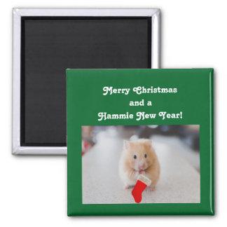 Christmas Hamster Magnet