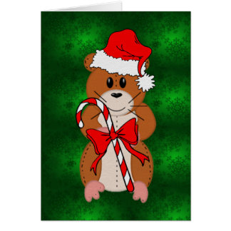 Christmas Hamster Note Card