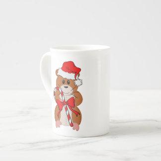 Christmas Hamster Bone China Mugs