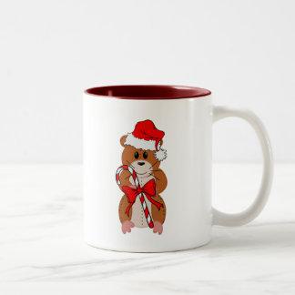 Christmas Hamster Two-Tone Mug