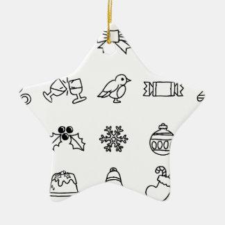 Christmas Hand Drawn Icon Set Christmas Ornament
