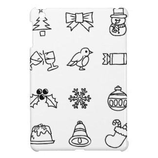 Christmas Hand Drawn Icon Set iPad Mini Covers