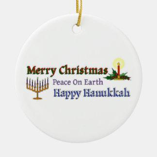 Christmas Hanukkah Christmas Ornament