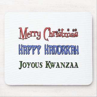 Christmas - Hanukkah - Kwanzaa Mouse Mat