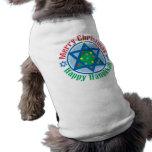 Christmas-Hanukkah Sleeveless Dog Shirt
