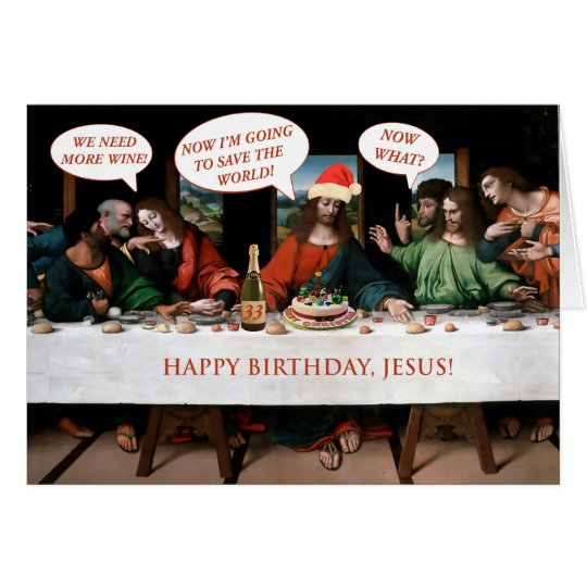 Christmas Happy Birthday Jesus Comics Style Funny Card