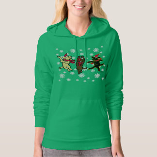 Christmas Happy Dancing Santa Labradors Hoodie