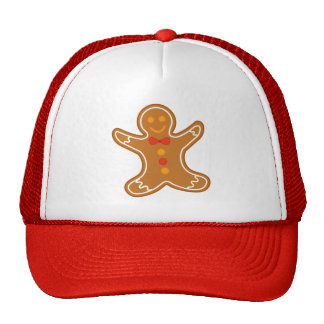 Christmas Happy Gingerbread Man Gift Collection Trucker Hat