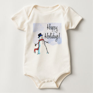CHRISTMAS HAPPY HOLIDAY APPARREL BABY CREEPER
