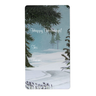 Christmas Happy Holidays Avery Label Shipping Label