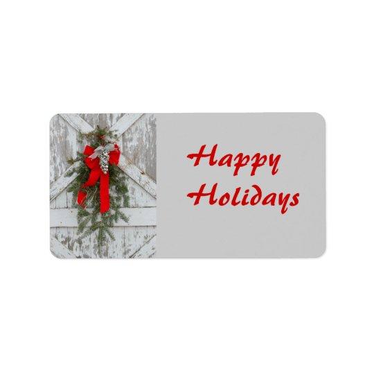 Christmas/Happy Holidays Label