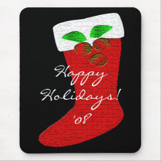 Christmas Happy Holidays Stocking Mousepad Mouse Pads