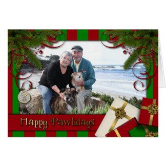 Christmas - Happy Pawlidays - Williams Photo 3 Card