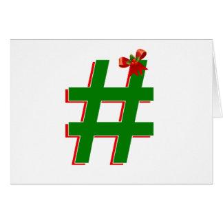Christmas #HASHTAG - Hash Tag Symbol Greeting Cards