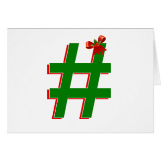 #Christmas #HASHTAG - Hash Tag Symbol Greeting Card