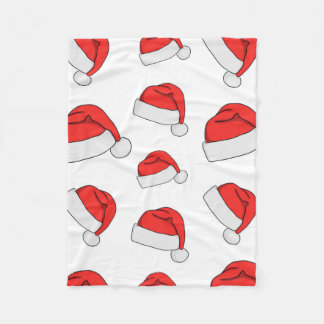 Christmas Hat Fleece Blanket