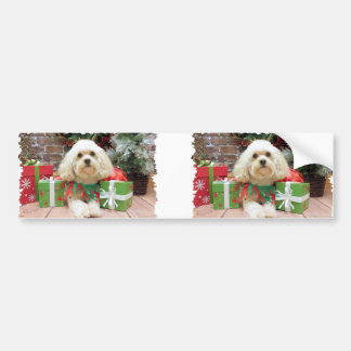 Christmas - Havanese - Mason Bumper Sticker