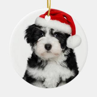 Christmas Havanese Puppy Dog Christmas Ornament