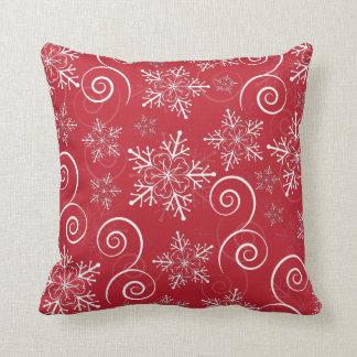 Christmas Hawaiian Hibiscus Snowflake Pillow Cushion