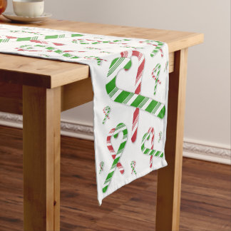 Christmas Heart Candy Cane Table Runner