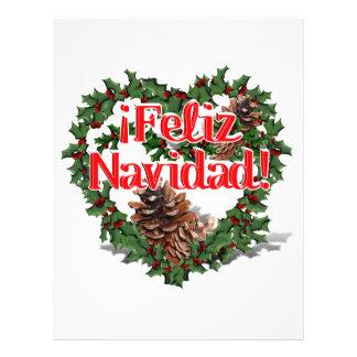 Christmas Heart Wreath (Feliz Navidad) Custom Flyer