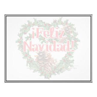 Christmas Heart Wreath (Feliz Navidad) Personalized Flyer