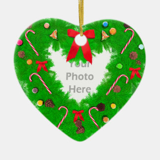 Christmas Heart Wreath (photo frame) Christmas Ornament