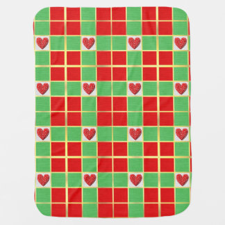 Christmas Hearts Baby Blanket