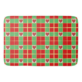 Christmas Hearts Large Bath Mat