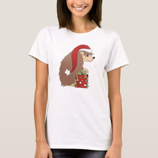 Christmas Hedgehog Holiday womens t-shirt
