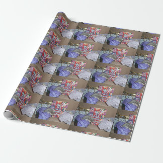Christmas hedgehog wrapping paper