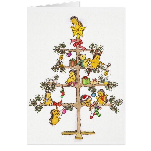 Christmas Hedgehogs Cards