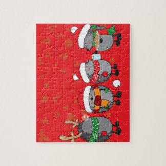 Christmas hedgehogs jigsaw puzzle
