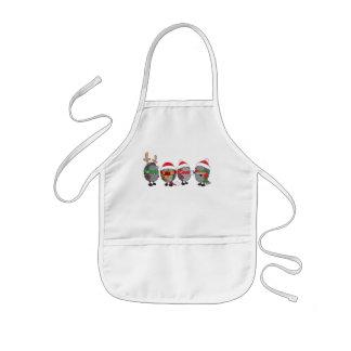 Christmas hedgehogs kids apron