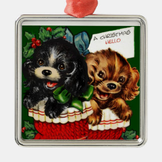 Christmas Hello Puppies Christmas Ornament