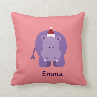 Christmas Hippo Cushion