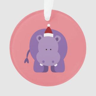 Christmas Hippo Ornament