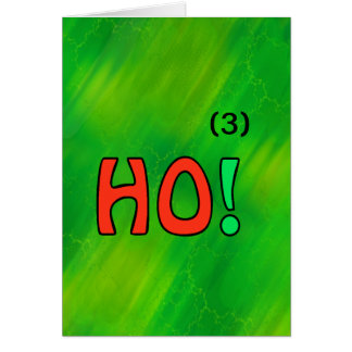 Christmas Ho 3 Math Greeting Card