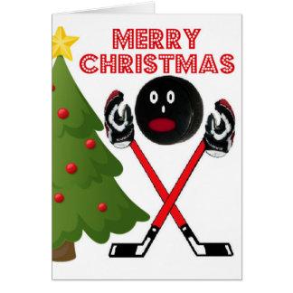 Christmas Hockey Greeting Card