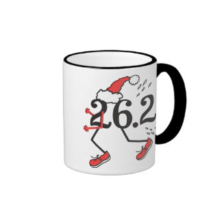 Christmas Holiday 26.2 Funny Marathon Runner Coffee Mugs