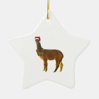Christmas Holiday Alpaca Christmas Ornament