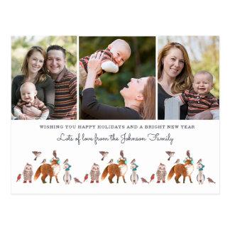 Christmas Holiday Animals | 3 Photo Postcard