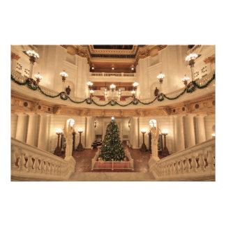 Christmas Holiday at Pennsylvania State Capitol Photo Print