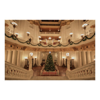 Christmas Holiday at Pennsylvania State Capitol Poster