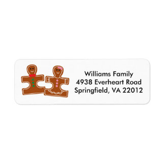 Christmas Holiday Autism Awareness Return Address Label