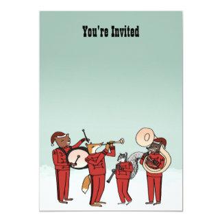 Christmas Holiday Band Invitation