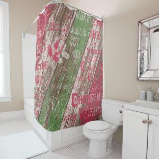 Christmas Holiday Bathroom Shower Curtain