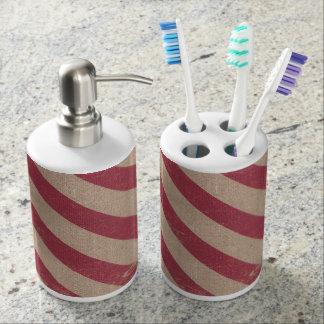 Christmas holiday bathroom soap toothbrush holder