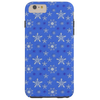 christmas holiday blue pattern tough iPhone 6 plus case